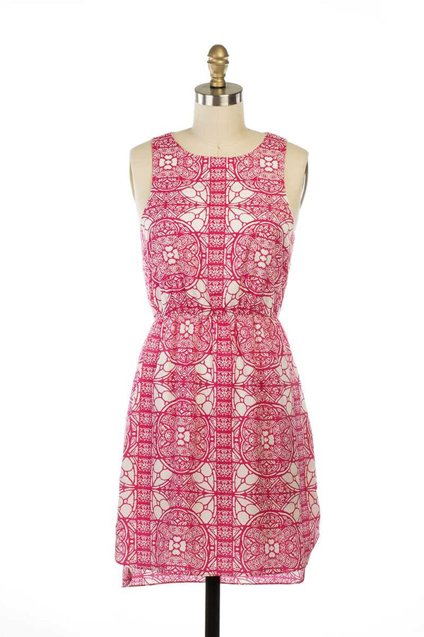 Mollie Mandala Print Dress