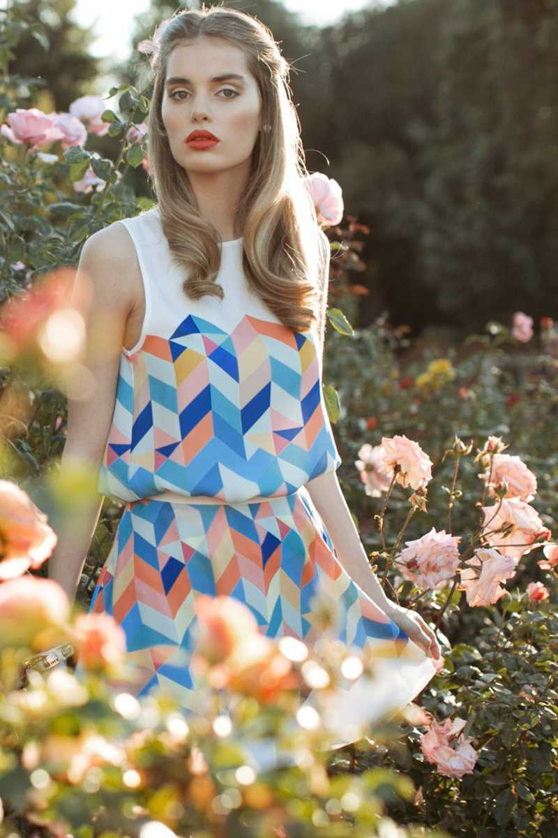 Everly Ivy Optical Print Dress - Talis Collection