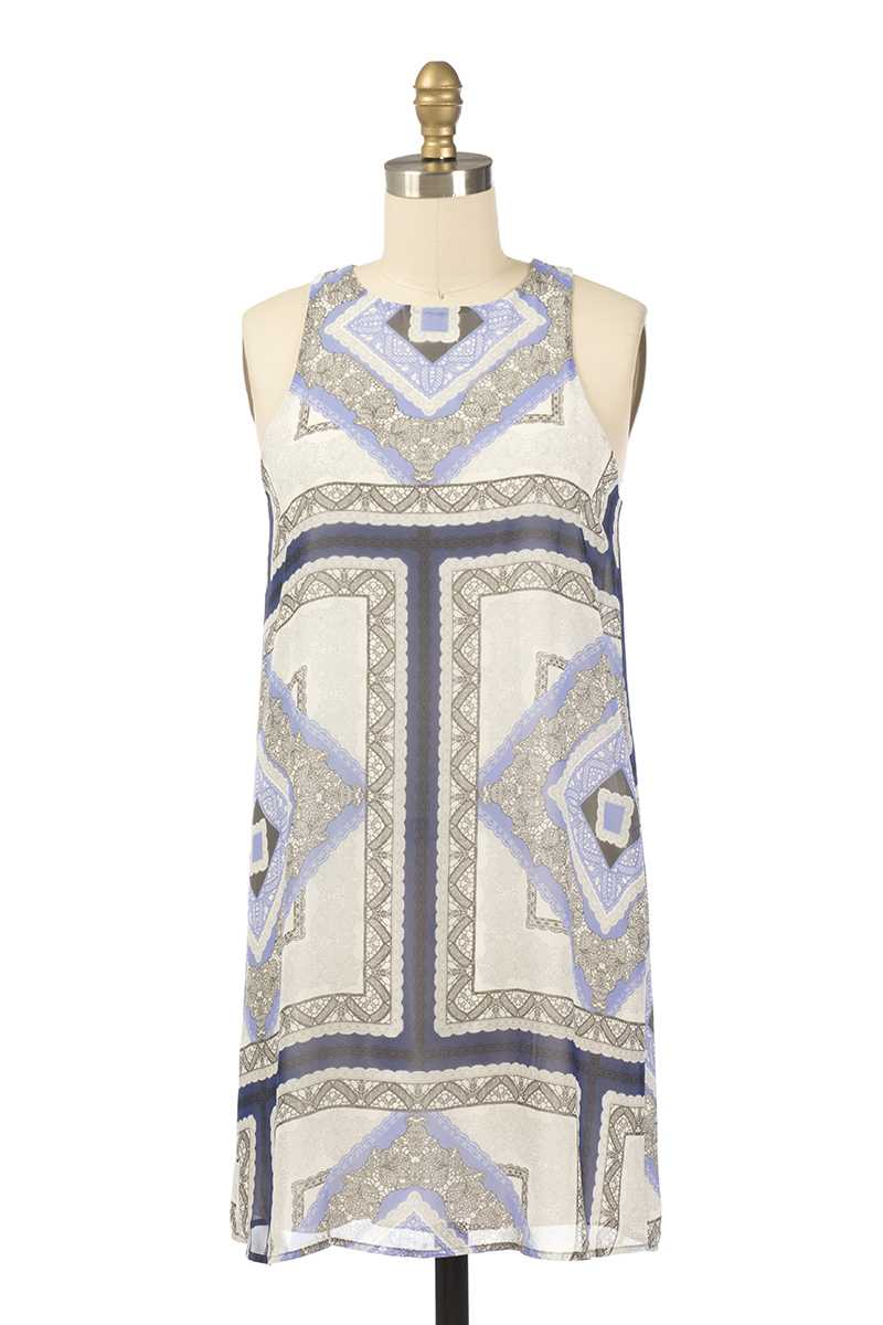 Everly Imogen Tribal Print Shift Dress - Talis Collection