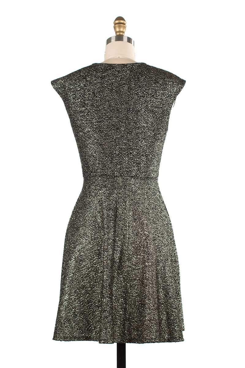 Melina Lurex Skater Dress