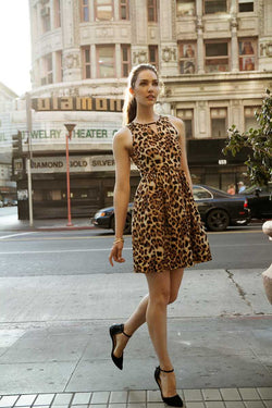Everly Anya Leopard Tank Dress - Talis Collection