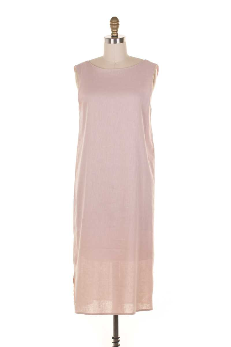 Everly Sleeveless Tank Midi Dress Pink