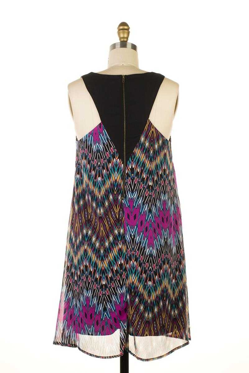 Everly Abstract Print Dress - Talis Collection