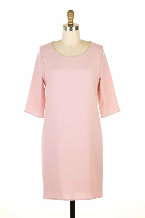 Everly Dusty Pink Shift Dress - Talis Collection