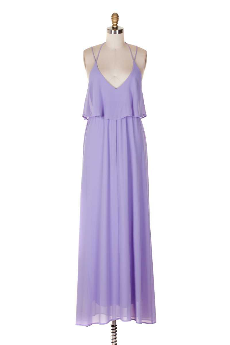 Everly Strappy Maxi Dress Lilac