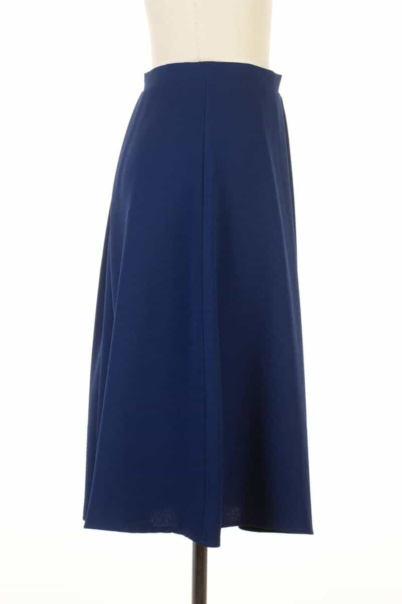 Everly A-line Midi Skirt Navy - Talis Collection