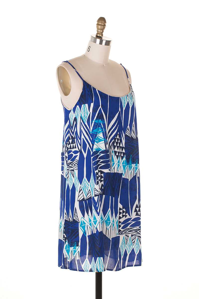 Everly Tribal Print Shift Dress