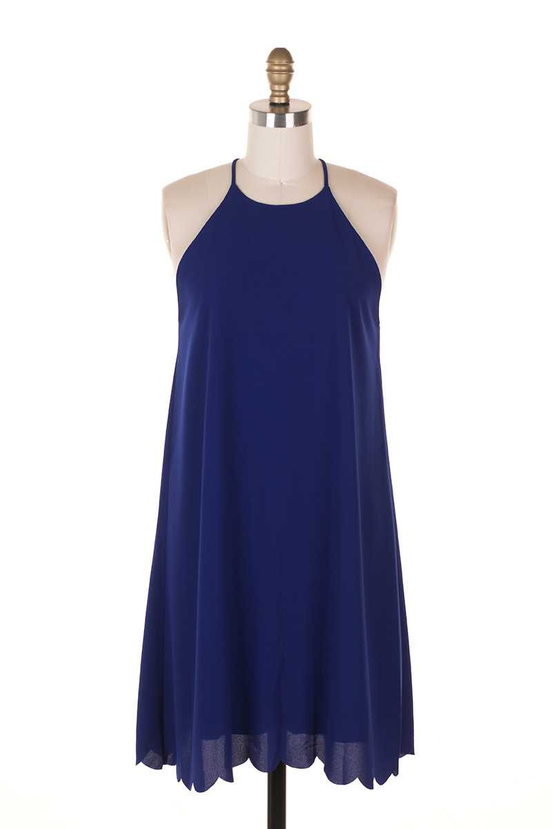 Everly Halter Neck Shift Dress - Talis Collection