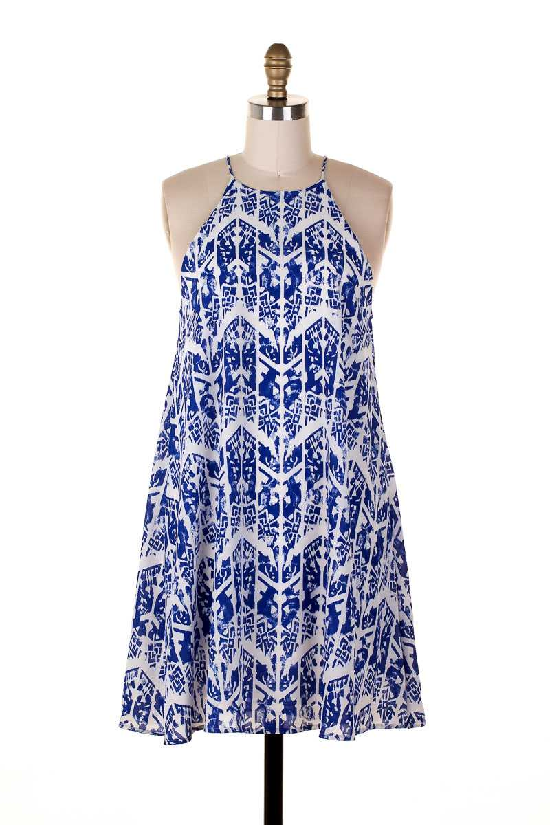 Everly Tribal Print Race Dress