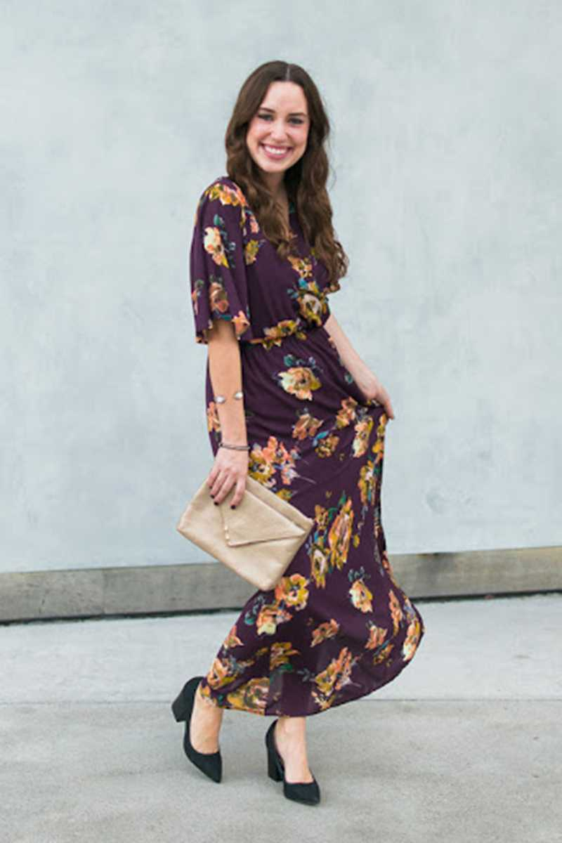 Everly Floral Print Maxi Dress - Talis Collection