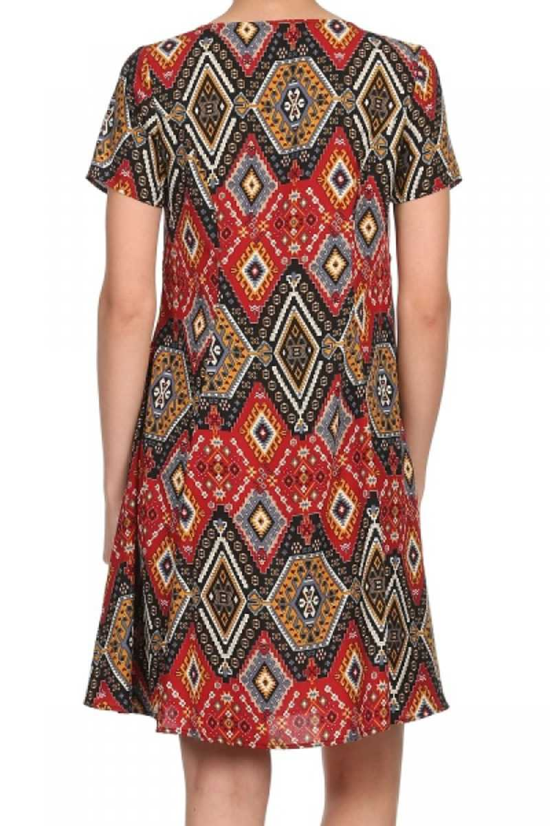 Everly Sevi Diamond Print Shift Dress