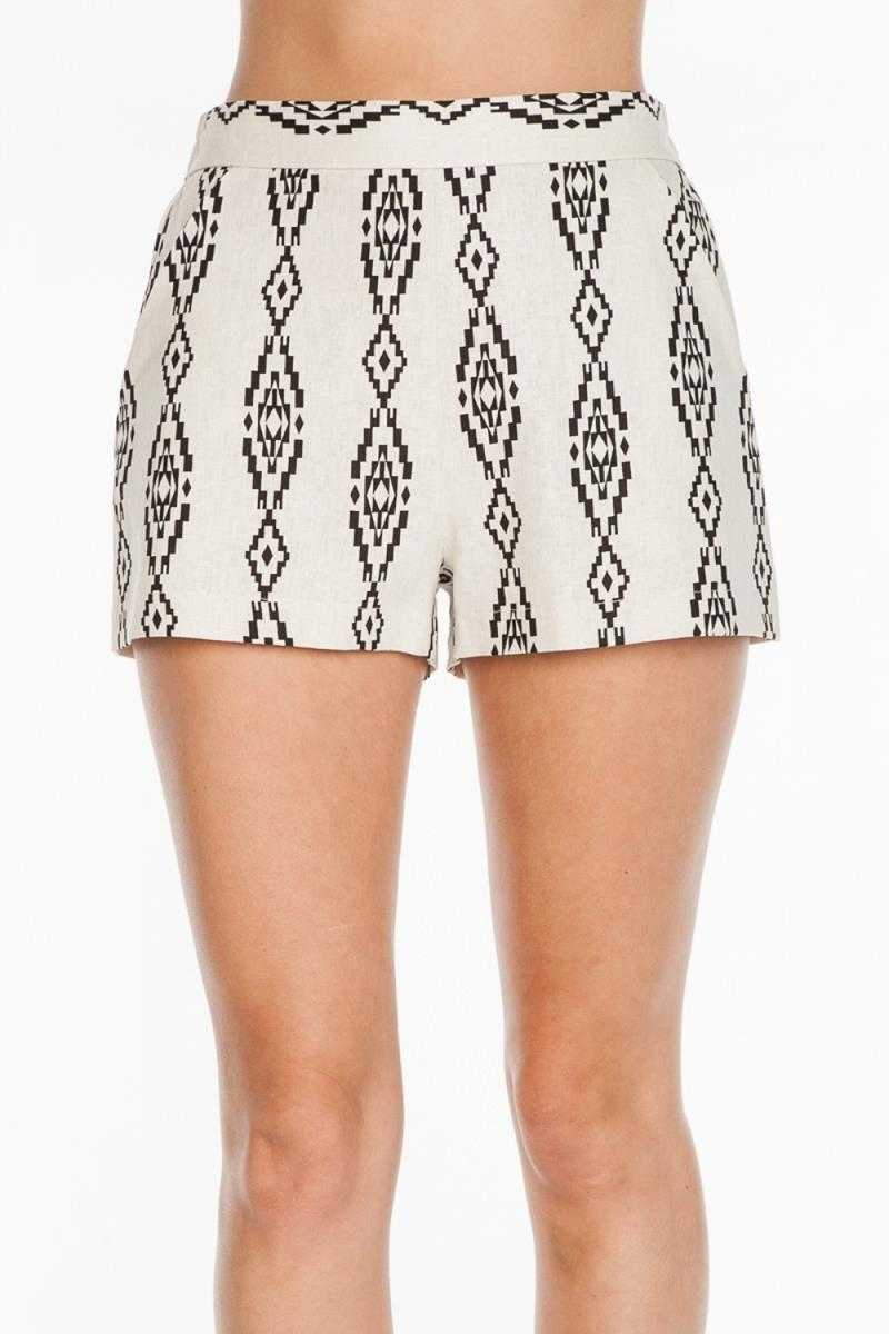 Everly Aztec Print Shorts - Talis Collection