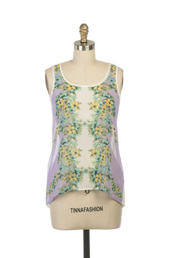 Everly Jodie Floral Print Vest Top - Talis Collection