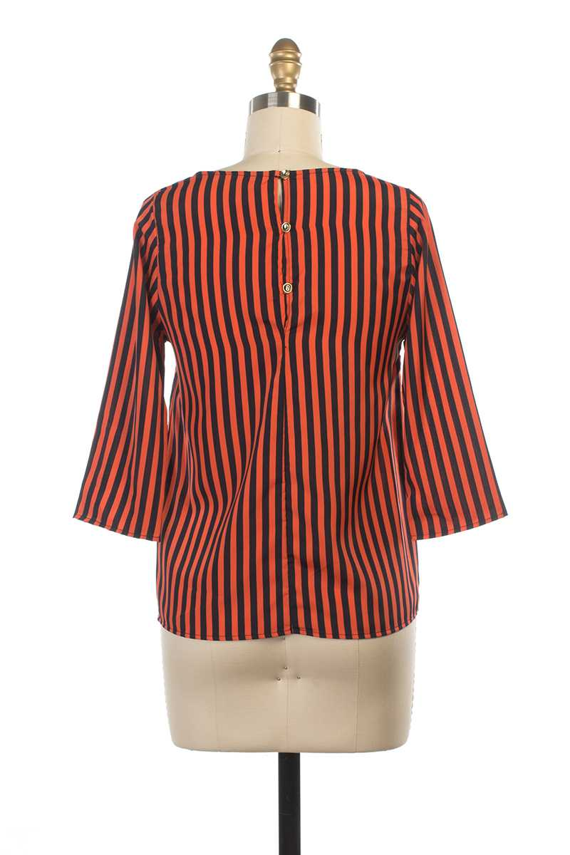 Everly Betty Stripe Blouse - Talis Collection