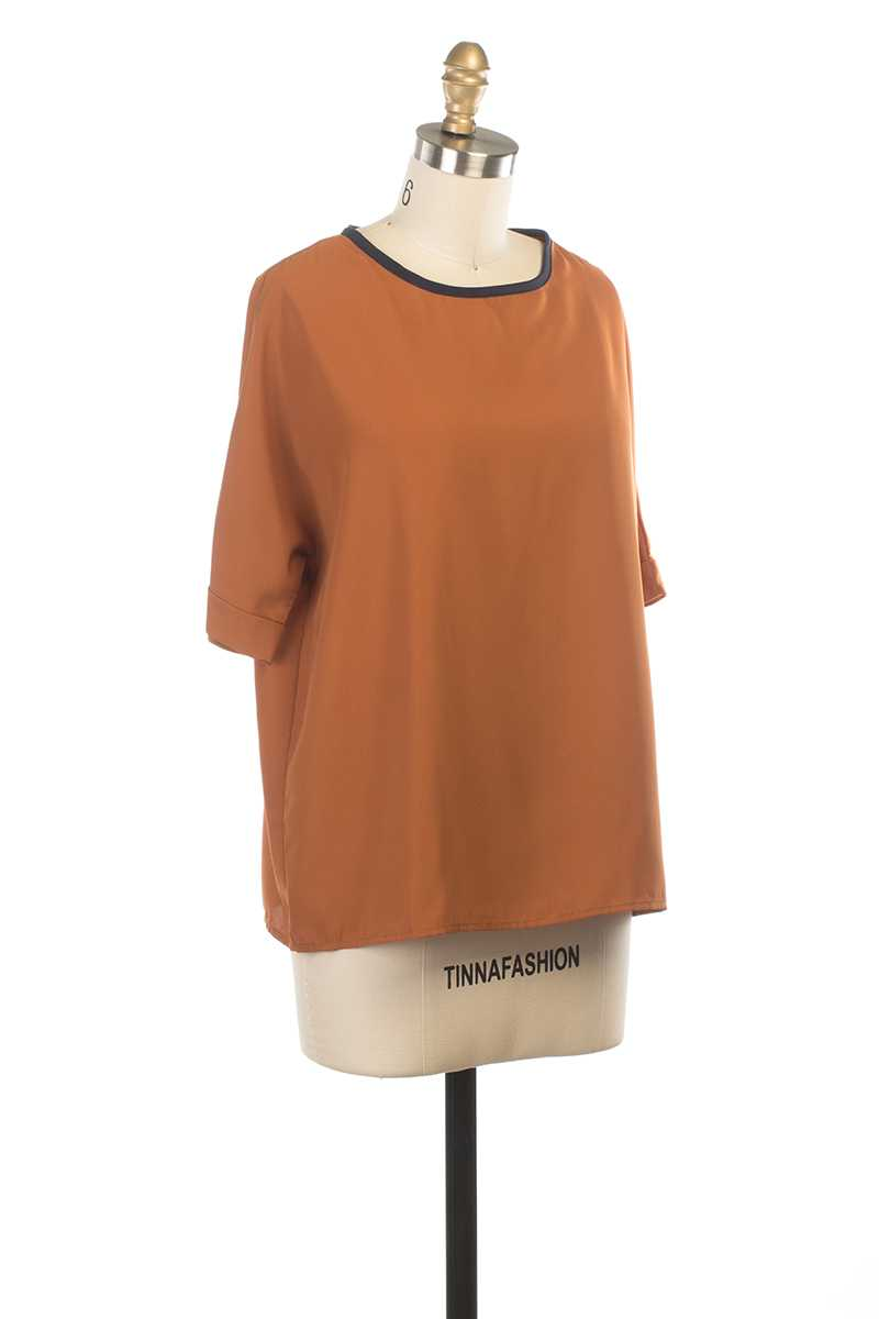 Everly Charis Short Sleeve Top - Talis Collection