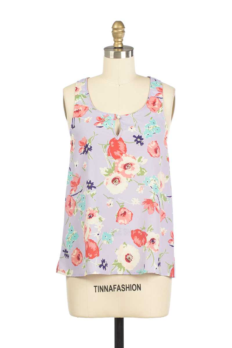 Everly Aliza Floral Print Vest - Talis Collection