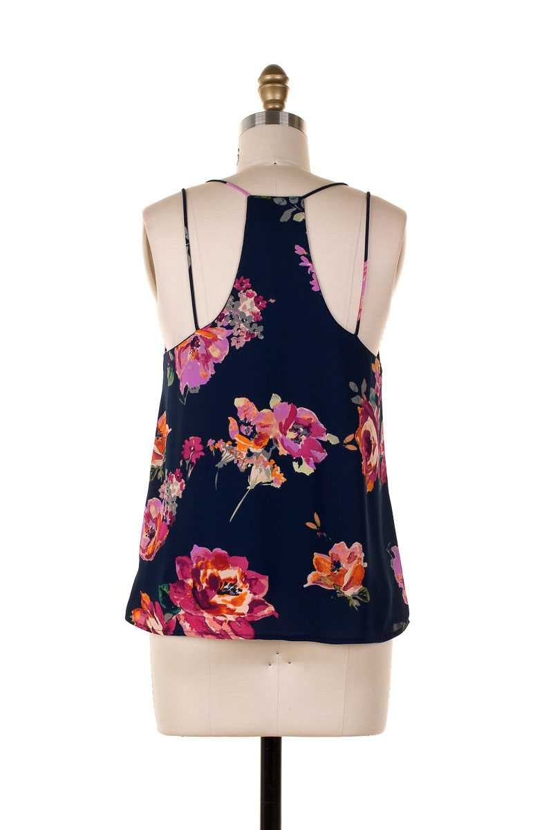 Everly Floral Print Tank Top - Talis Collection