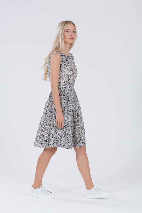 Emily and Fin Abigail Dress Abstract Navy Brushstrokes - Talis Collection