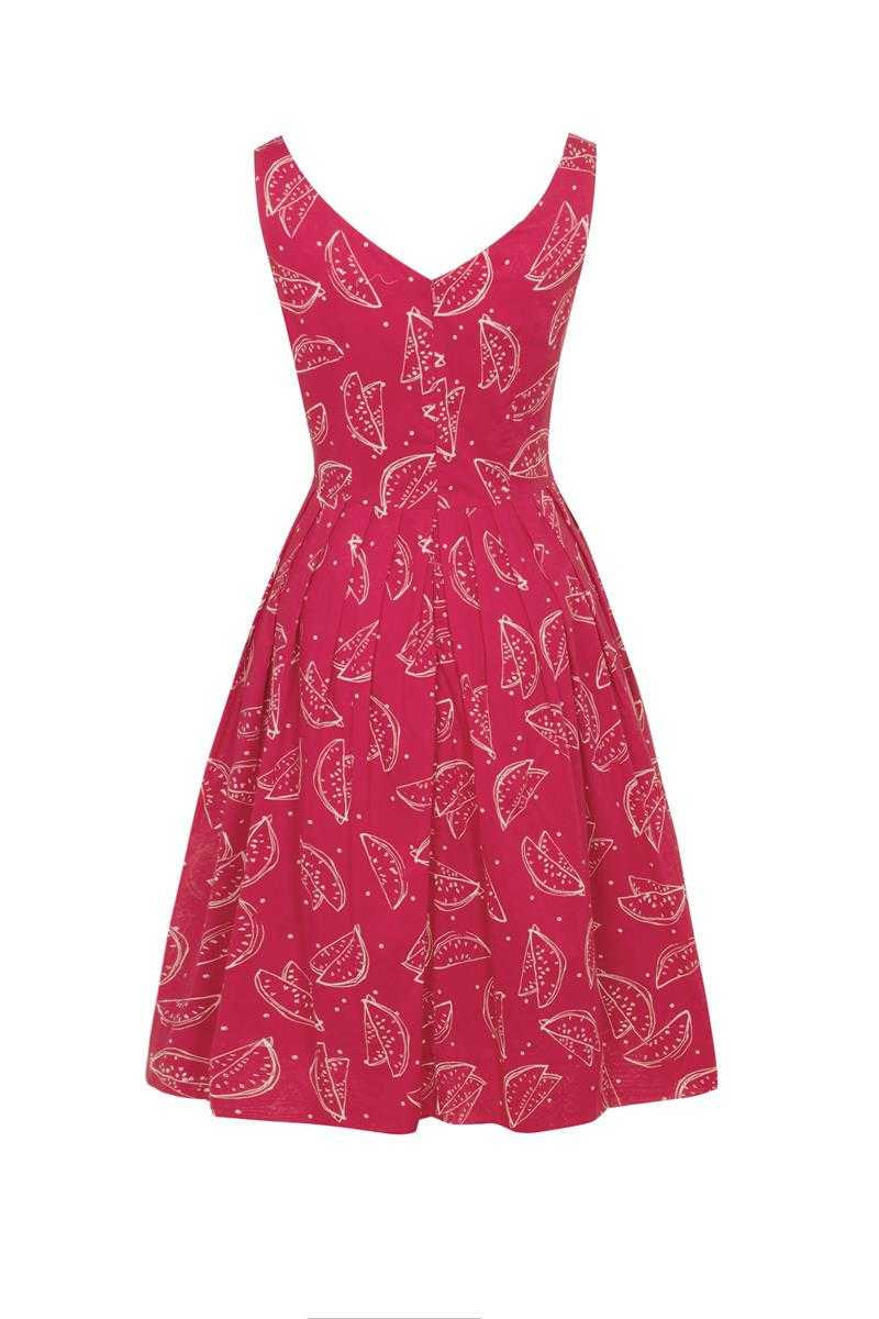 Emily and Fin Red Watermelons Valerie Dress Size XS - Talis Collection