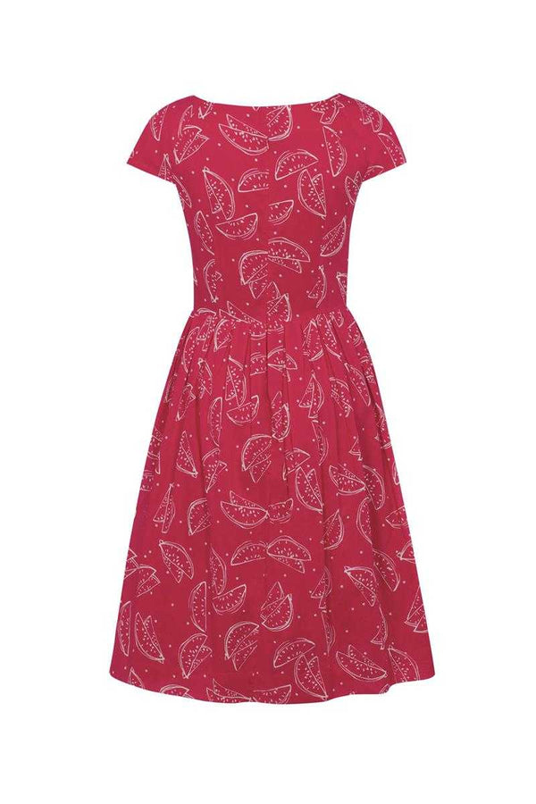 Emily and Fin Red Watermelons Claudia Dress - Talis Collection