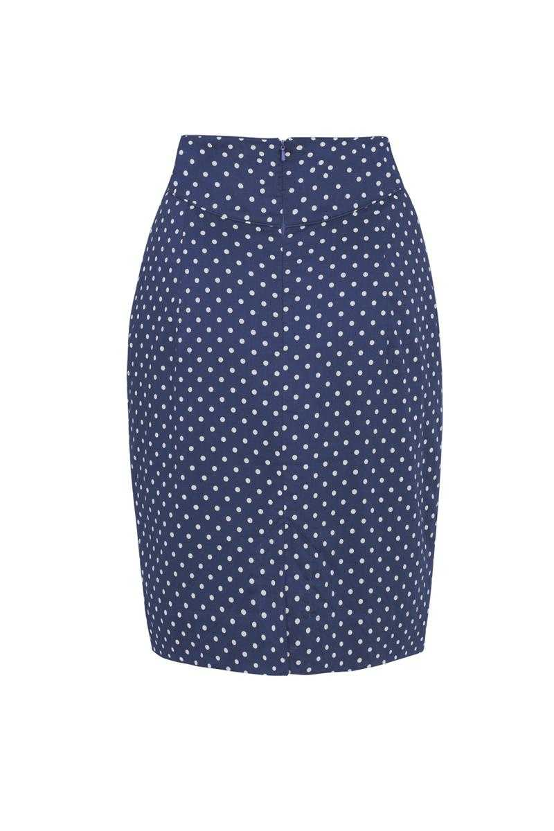 Emily and Fin Navy with Small White Polka Robyn Skirt - Talis Collection
