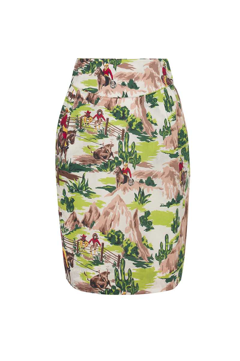 Emily and Fin Robyn Skirt Green Cowboys - Talis Collection