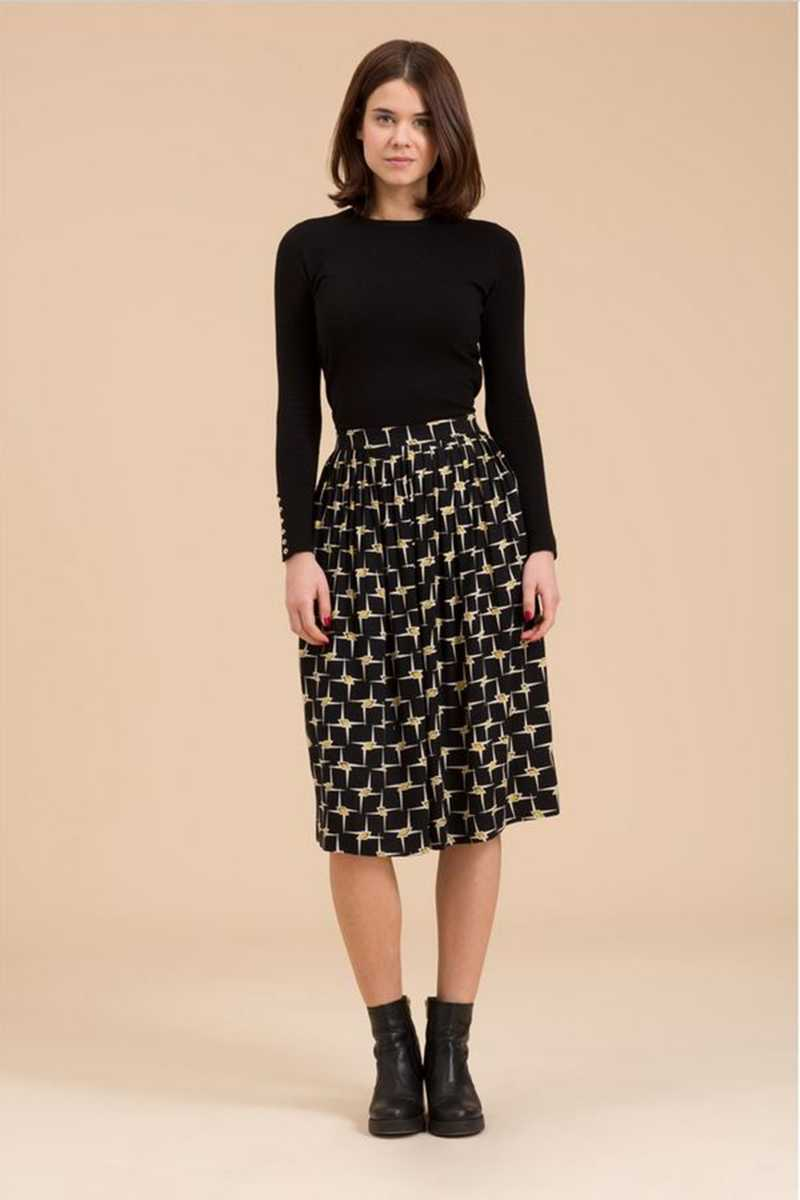 Emily and Fin Graphic Gold Star Abigail Skirt - Talis Collection