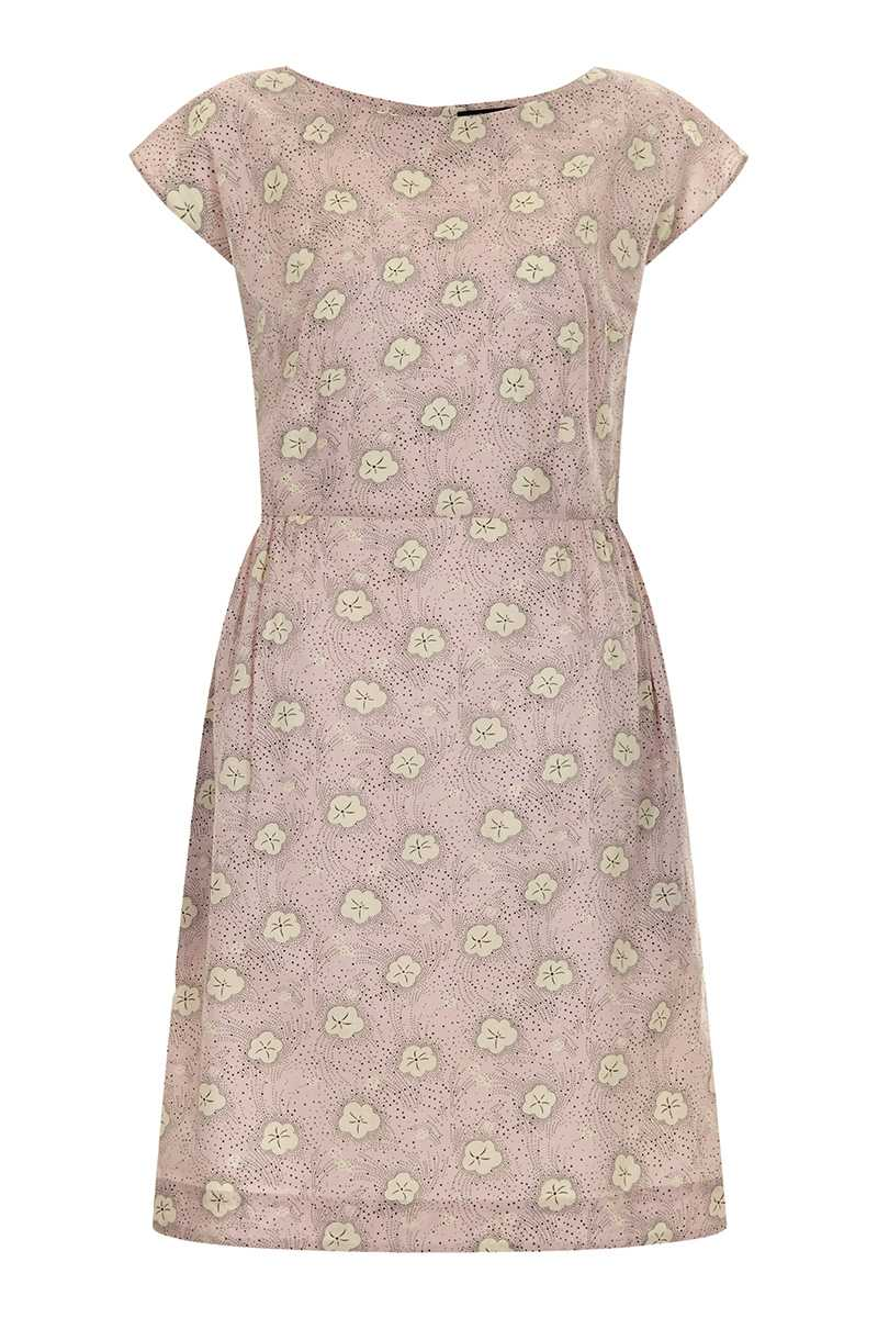 Emily and Fin Megan Dress Pink with White Pansy - Talis Collection