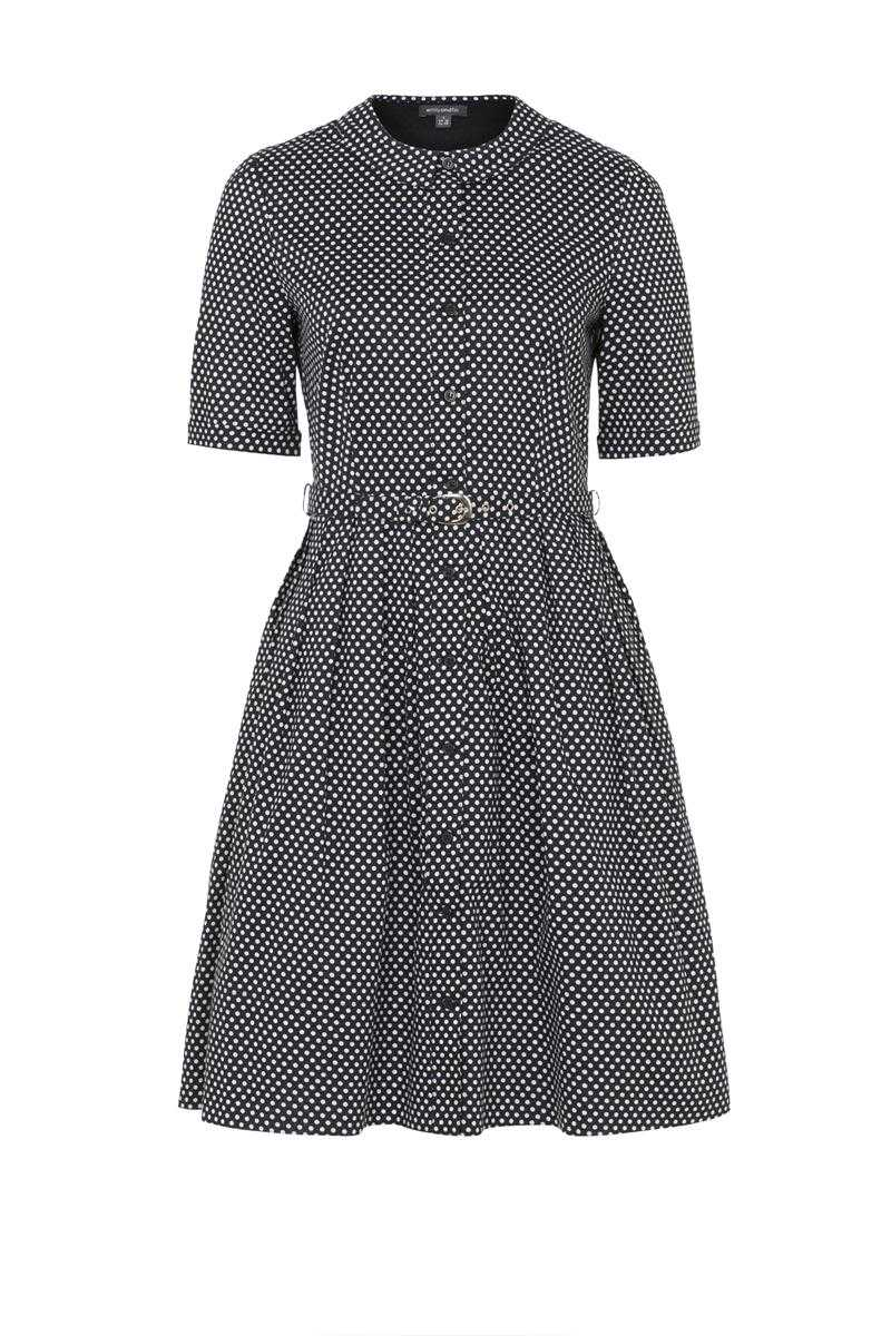 Emily and Fin Olive Dress Black with White Polka Size XXS - Talis Collection