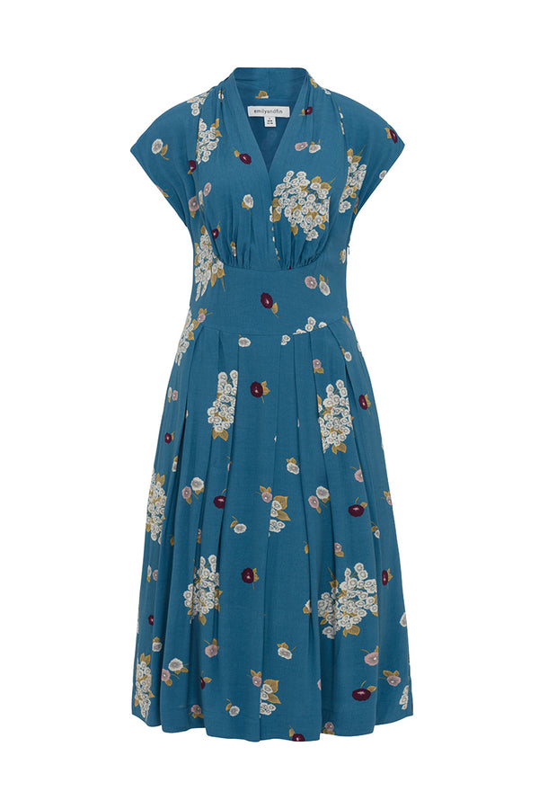 Emily and Fin Flora Dress Blue Blossom Floral - Talis Collection