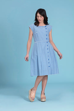 Emily and Fin Nancy Dress Blue and White Stripe Sizes XS - Talis Collection