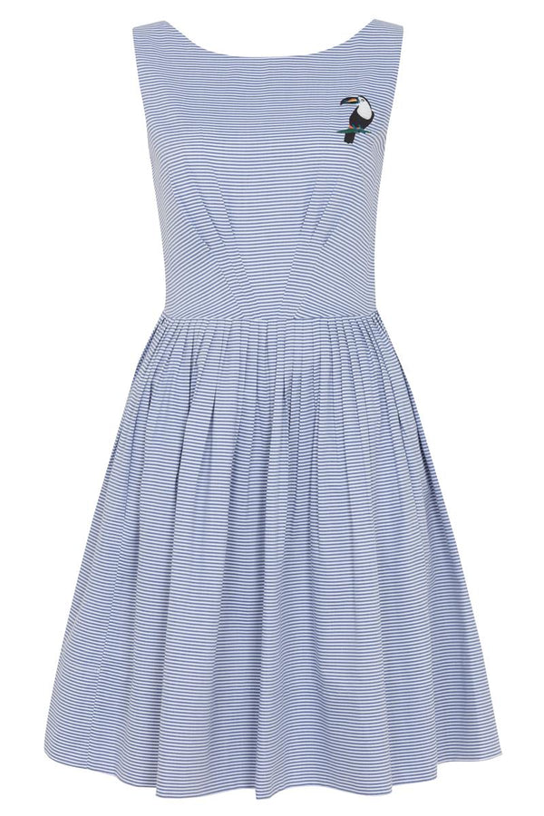 Emily and Fin Abigail Dress Chambray Stripe - Talis Collection