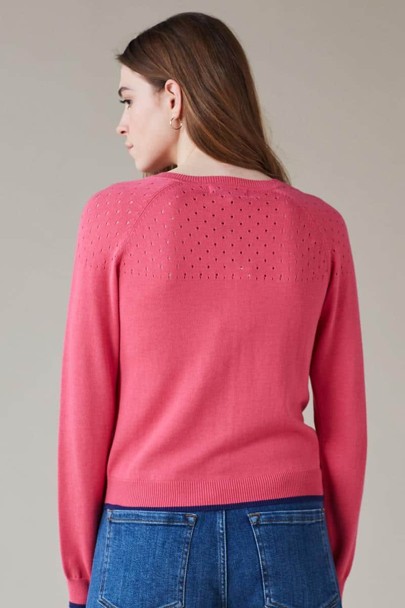 Emily and Fin Klara Longsleeve Cardigan Pink - Talis Collection