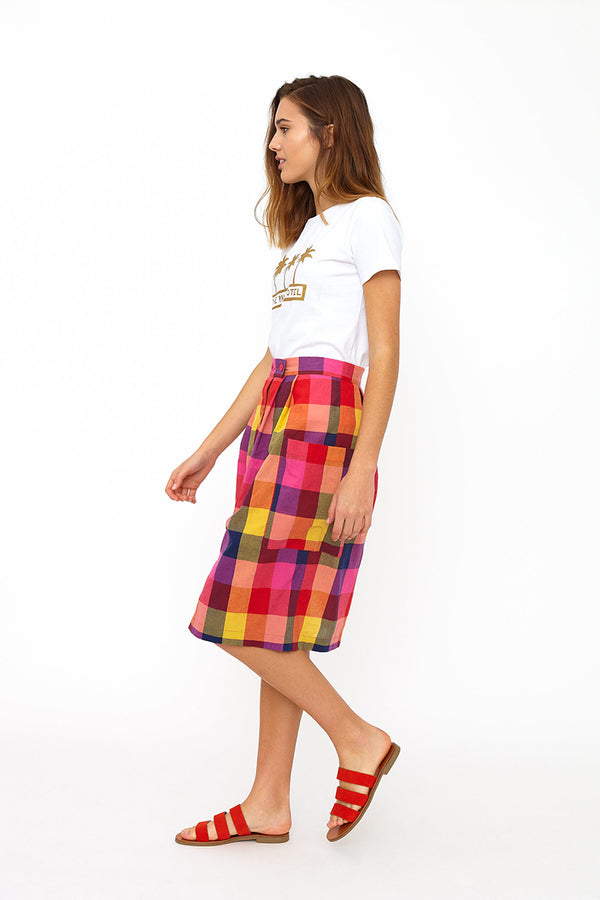 Emily and Fin Zoe Skirt Sunset Plaid - Talis Collection