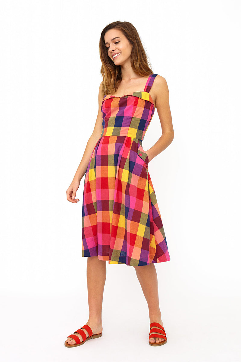 Emily and Fin Pippa Dress Sunset Plaid - Talis Collection