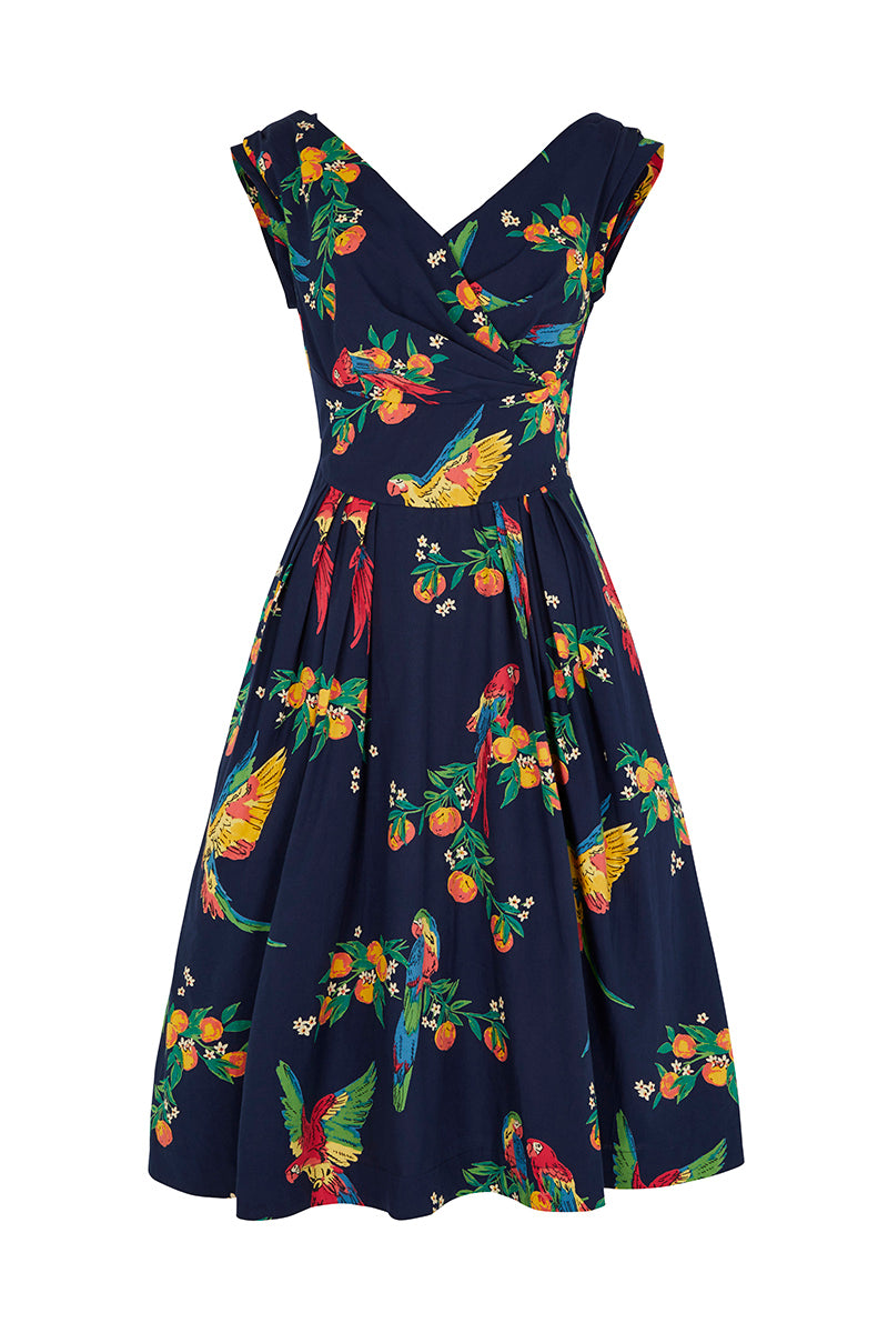 Emily and Fin Florence Dress Playful Parrots - Talis Collection