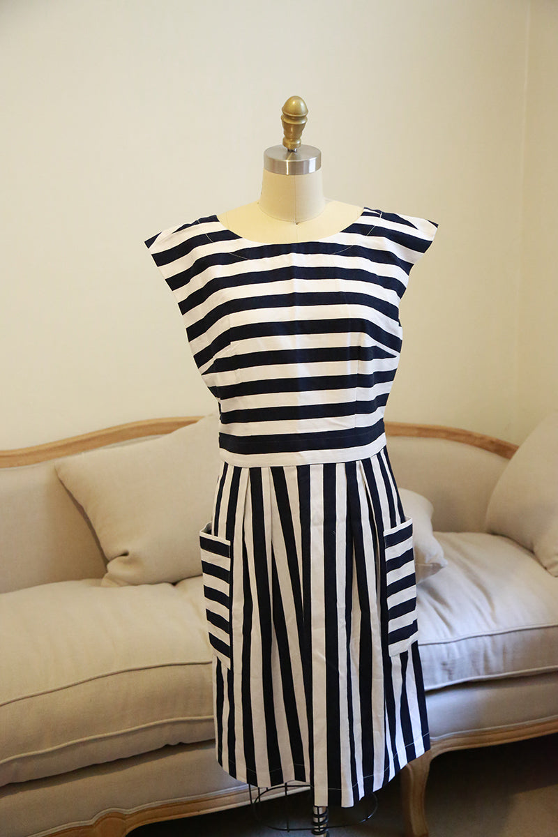 Emily and Fin Zoe Dress Nautical Stripes - Talis Collection