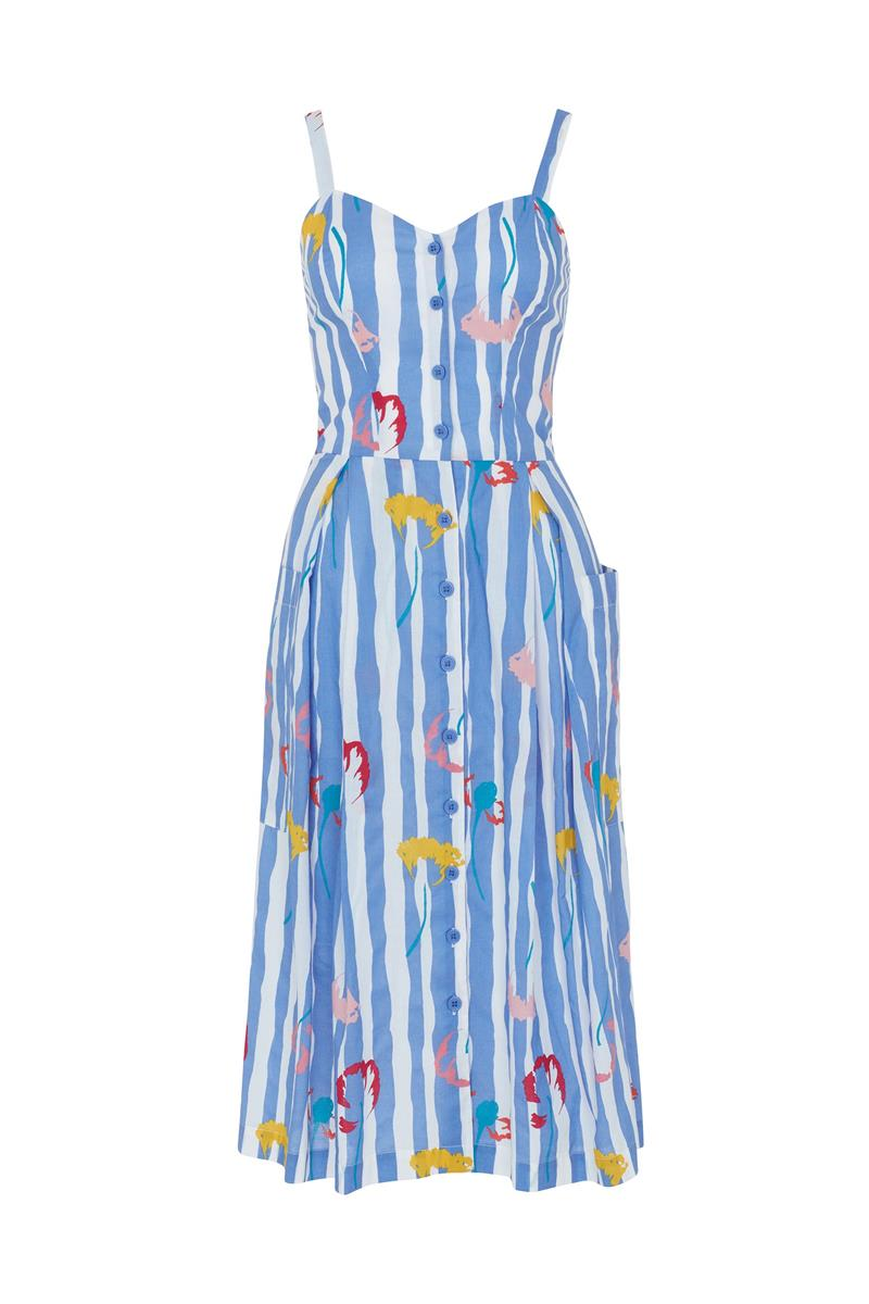 Emily and Fin Layla Sun Dress Salvation Floral Stripe - Talis Collection