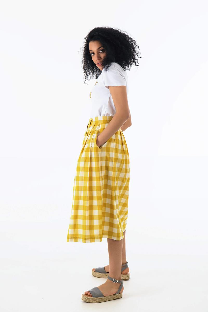 Emily and Fin ISLA Skirt Yellow Plaid - Talis Collection