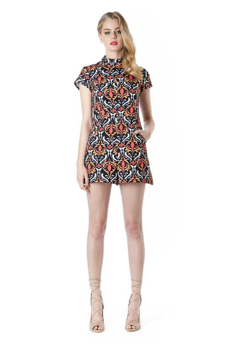 Elliatt Wonderland High Neck Printed Playsuit - Talis Collection