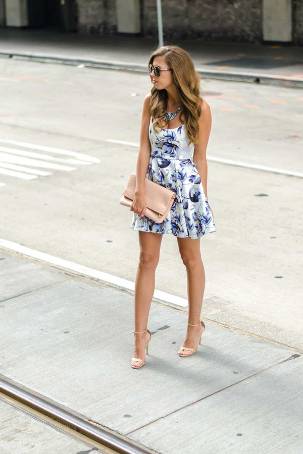Elliatt Magical Strapless Floral Print Mini Dress - Talis Collection