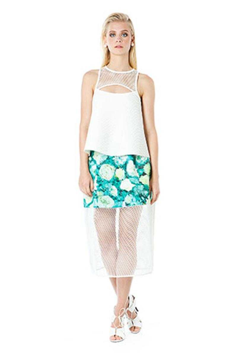 Elliatt Impressions Floral Print Midi Skirt S - Talis Collection