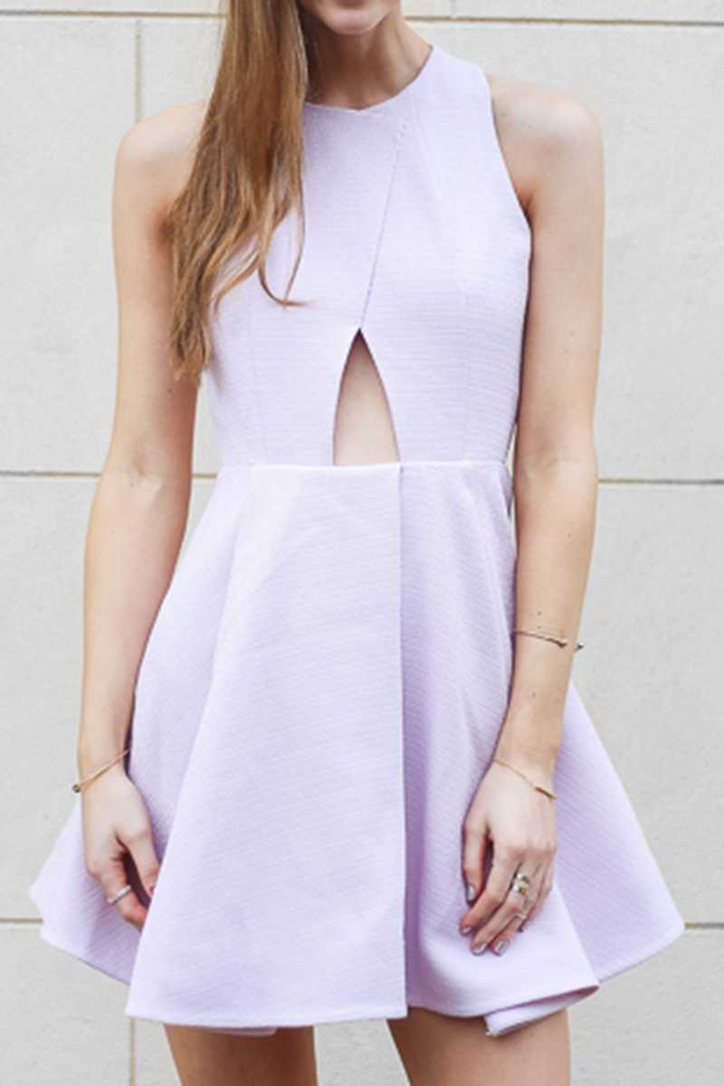 Elliatt Essence Fit and Flare Dress Lilac - Talis Collection