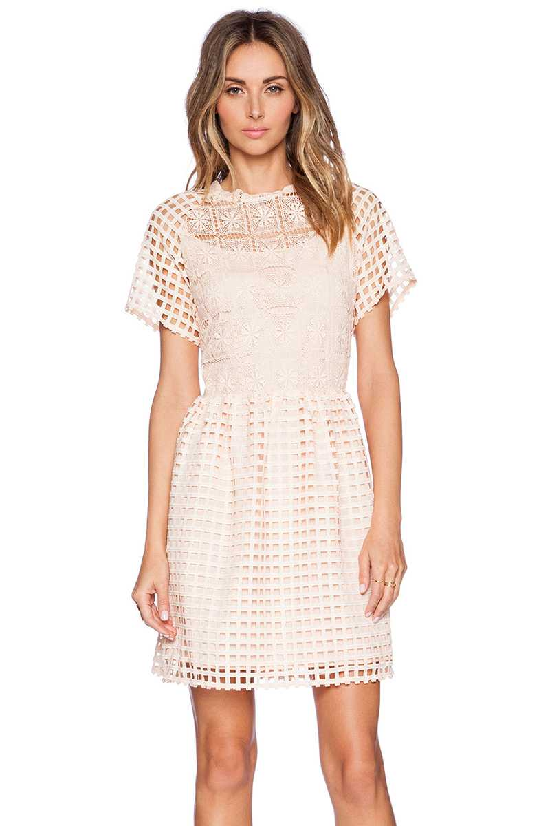 Elliatt Frame Grid Cutout Fit and Flare Dress - Talis Collection