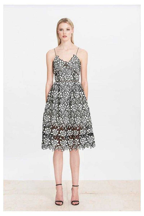 Elliatt Paradise Floral Lace Skater Midi Dress - Talis Collection