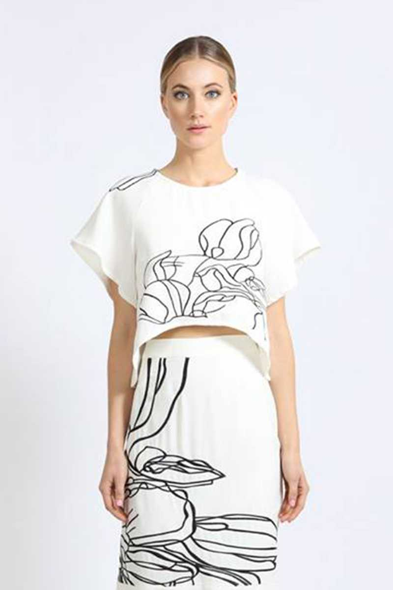Elliatt Floral Abstract Print Top - Talis Collection