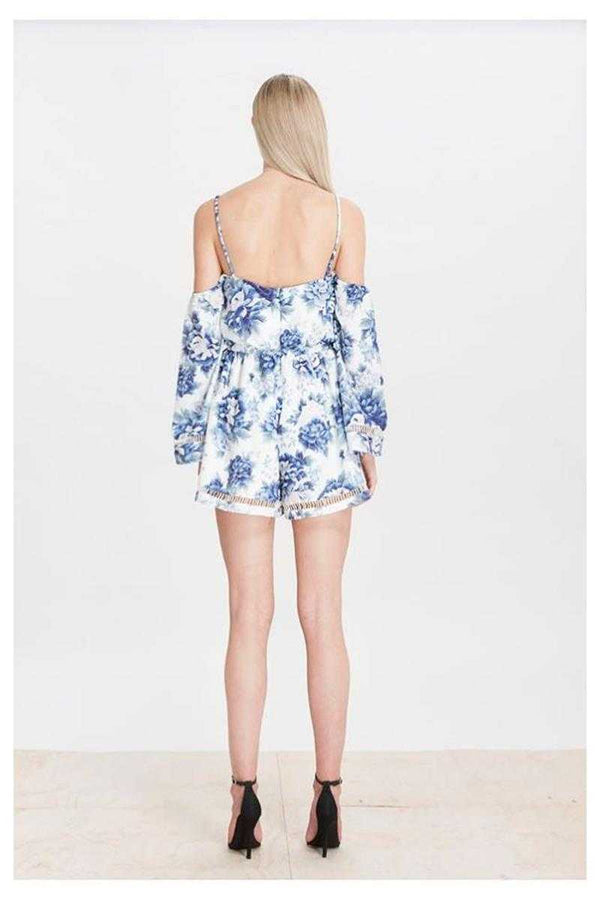 Elliatt Flourish Playsuit French Floral Print - Talis Collection