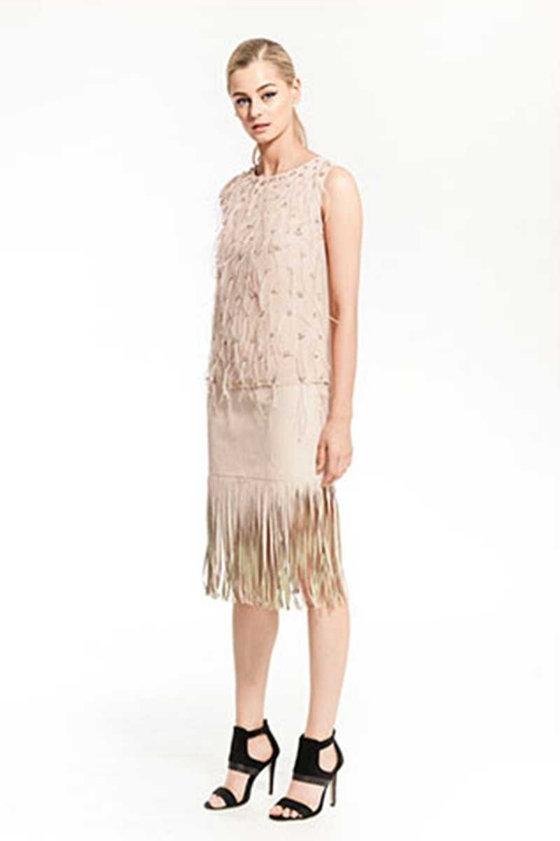 Elliatt Happening Beads Feather Embellished Top - Talis Collection