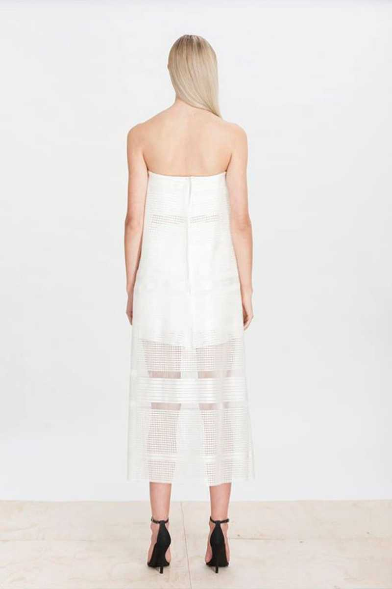Elliatt Crested Sheer Overlay Maxi Skirt - Talis Collection