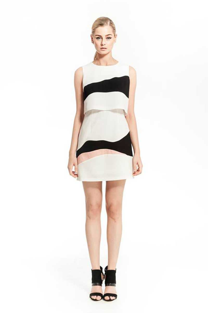 Elliatt Marvel Stripe Print Mini Dress - Talis Collection